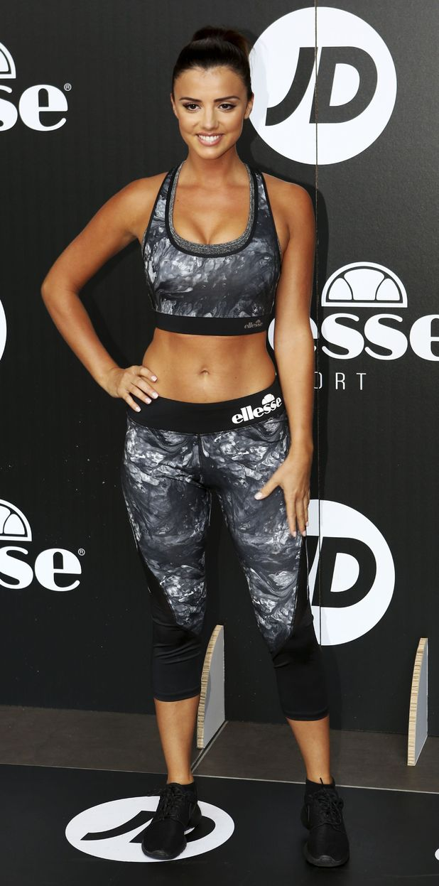 Lucy Mecklenburgh promotes Ellesse clothing range in Newcastle, 11th August 2015