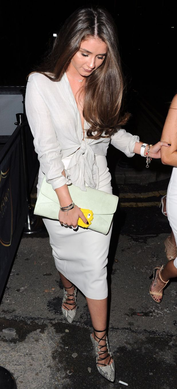 Brooke Vincent out at The Oxford Club, Manchester 1 August