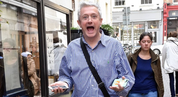 Former X Factor judge Louis Walsh on Coppinger Row in Dublin - 11 August 2015.