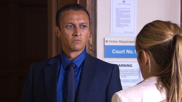 Emmerdale, Jai and Rachel in court, Fri 14 Aug