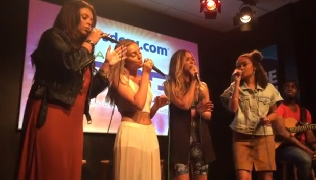 Little Mix perform 'Get Weird' album track 'The End' for the first time, 10th August 2015