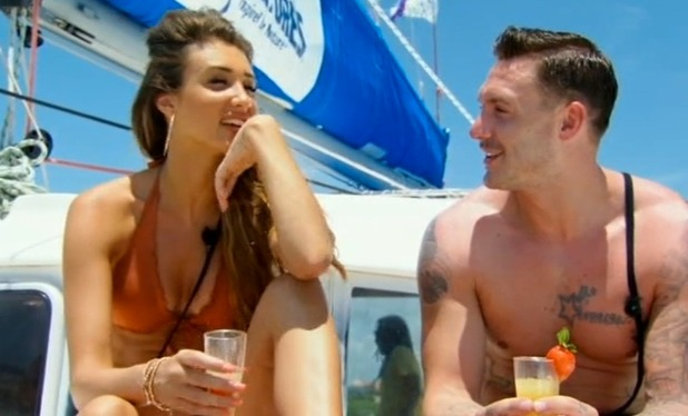Kirk Norcross and Megan McKenna on Ex On The Beach, Episode 1 11 August