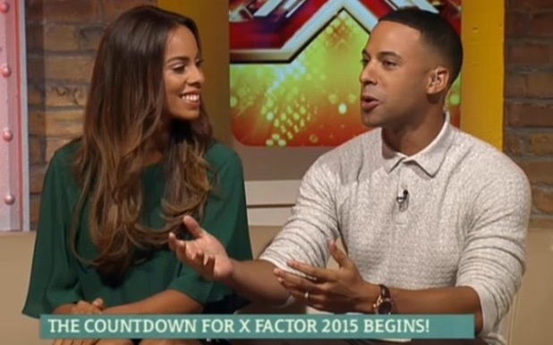 Rochelle Humes, Marvin Humes host ITV's 'This Morning'. Broadcast on ITV1 HD. 14 August 2015.