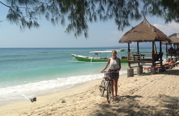 Cycling around Gili Trawangan, Indonesia, 12/8/15