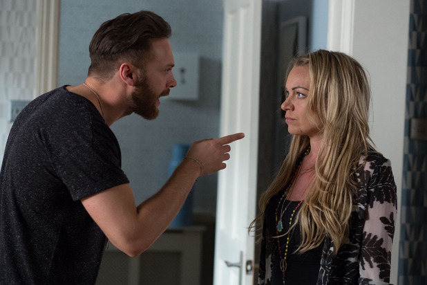EastEnders, Dean tells Roxy about the CCTV, Thu 13 Aug