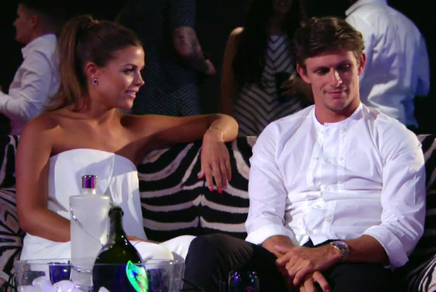 Chloe Lewis and Jake Hall on The Only Way Is Marbs - 15 June 2015.