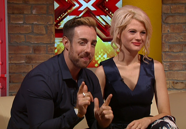 Stevi Ritchie and Chloe-Jasmine Whichello speaking ahead of the series of 'The X Factor' on 'This Morning'. Broadcast on ITV1 HD. 14 August 2015.