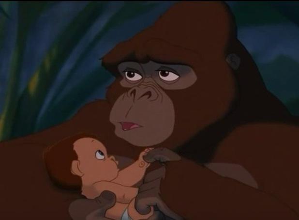 Tarzan as a baby, Disney movie Tarzan 14 August