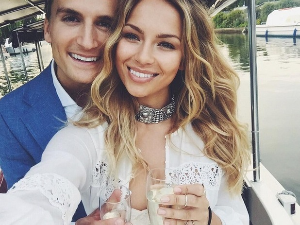 Oliver Proudlock and girlfriend Emma Connolly celebrate their anniversary, Henley 12 August