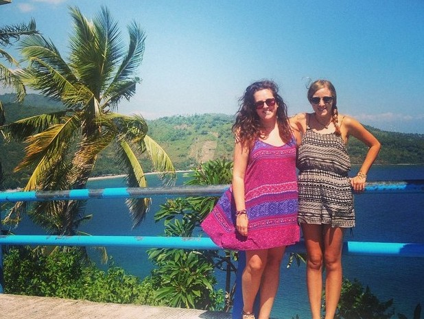 Kathryn and Lucy in Lombok, Indonesia, 12/8/15