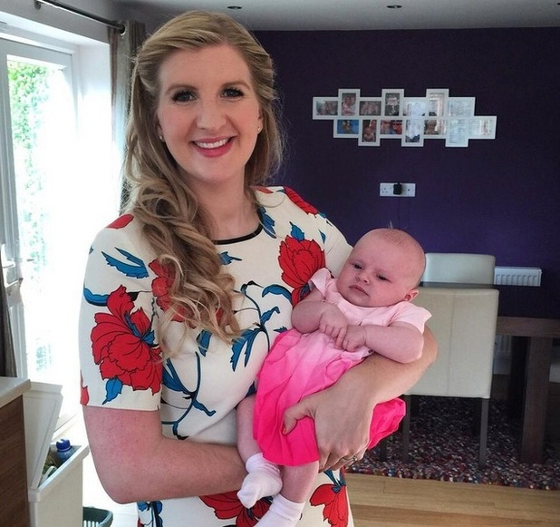 Rebecca Adlington and daughter Summer 10 August