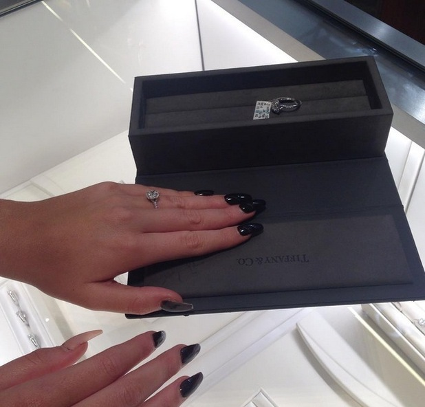 Amy Childs shops for engagement rings, 11 August