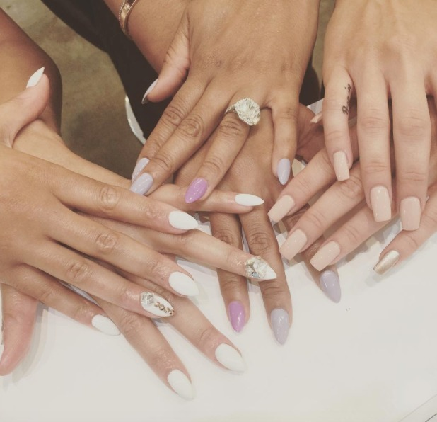Sarah-Jane Crawford and Mel B show show off their amazing nails, thanks to the Nail Bar & Beauty Lounge, 4 August 2015