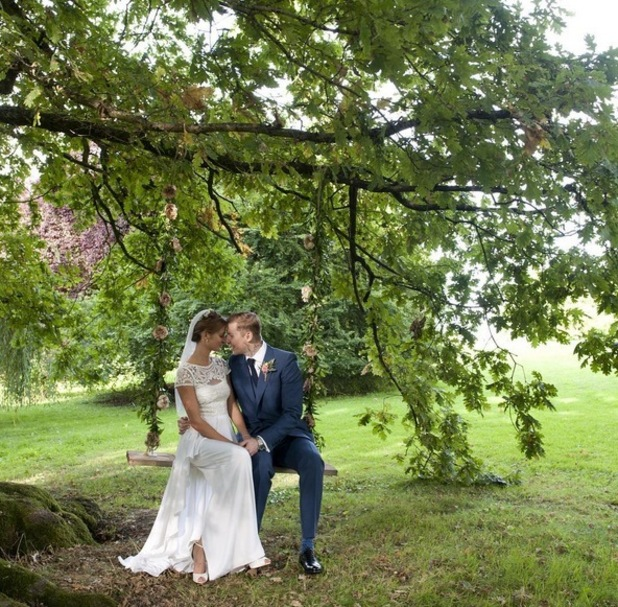 Professor Green and Millie Mackintosh new wedding photo 14 August