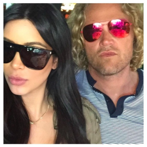 Pregnant Kim Kardashian lunches with friend Peter Dundas, 16 August 2015