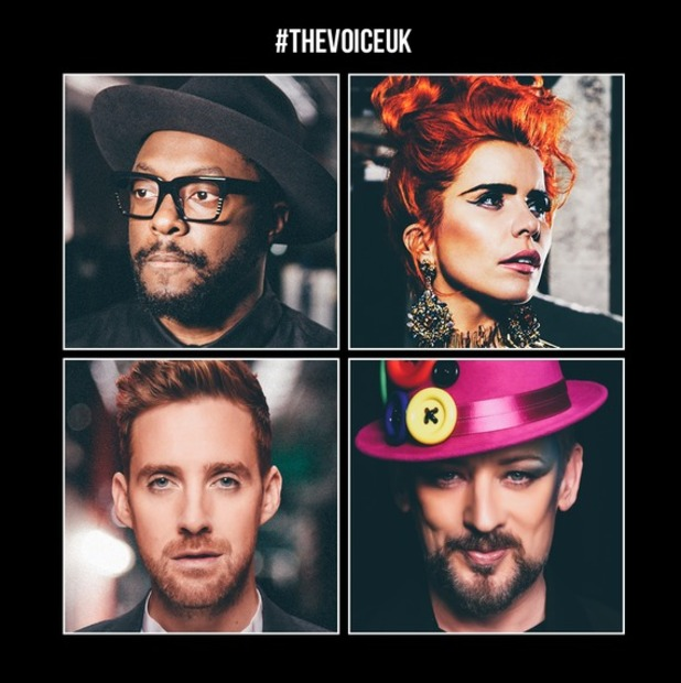 The Voice UK: Ricky Wilson, will.i.am, Paloma Faith, Boy George are judges