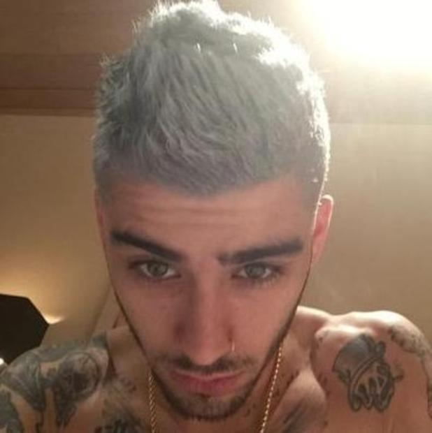 Zayn Malik unveils grey hair in new selfie - 12 August 2015.