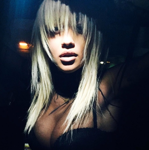 Rita Ora posts picture of her brand new blonde fringe on Instagram 12th August 2015