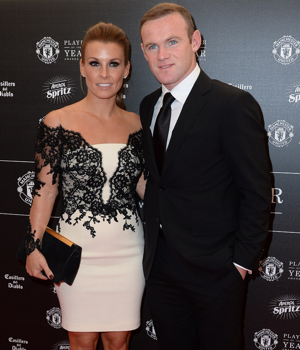 Wayne Rooney and Coleen Rooney at the Manchester United Player of the Year Awards 2015 - 19 May 2015.