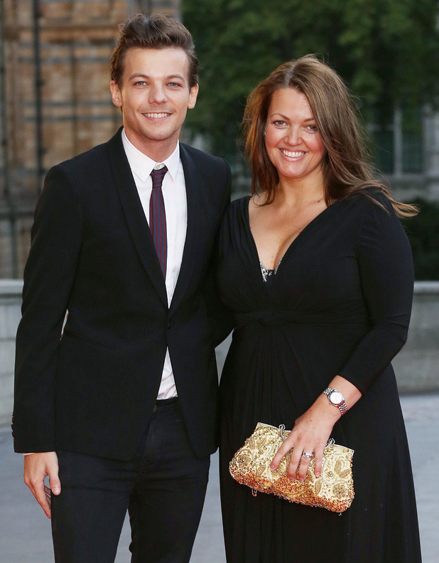 Louis Tomlinson with his mum at the Believe In Magic Cinderella Ball held at the Natural History Museum - 10 August 2015.