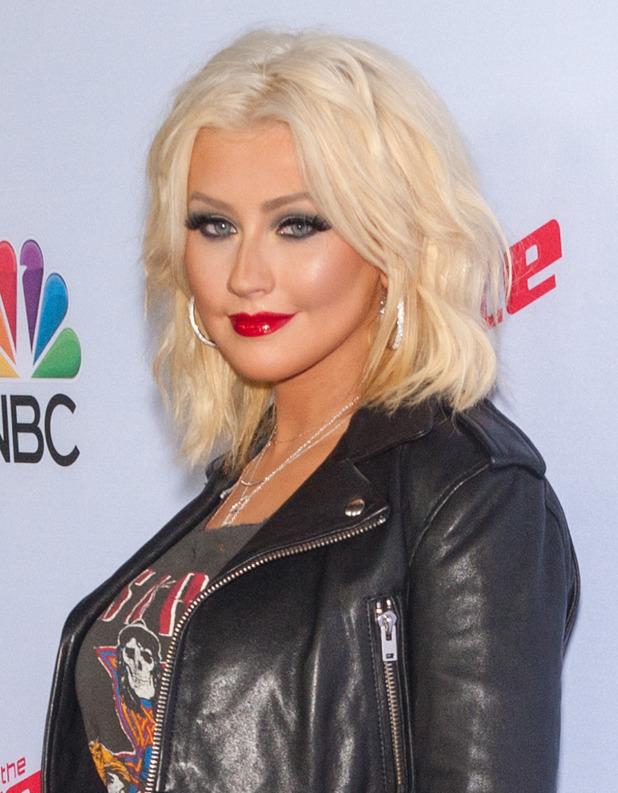 Christina Aguilera at The Voice' Season 8 - Red Carpet Arrivals - 23 April 2015.