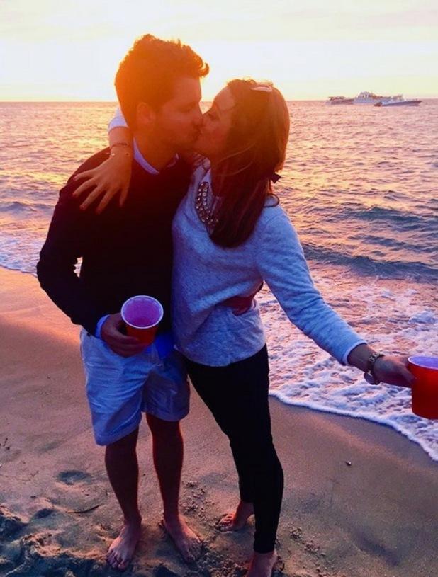 Stevie Johnson and girlfriend Cressida Stewart, Nantucket Island 9 August
