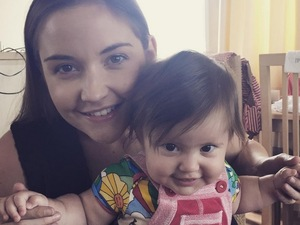 Jacqueline Jossa celebrates her daughter Ella turning six months old, in an Instagram post, 17th August 2015