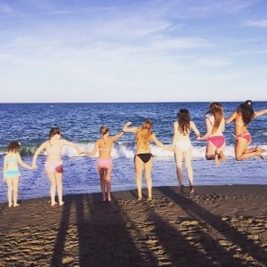 Brooke Vincent on holiday in Spain - for use on Brooke's blog. 18 August 2015.