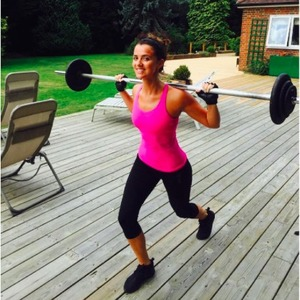 Lucy Mecklenburgh shares fitness pics with fans.