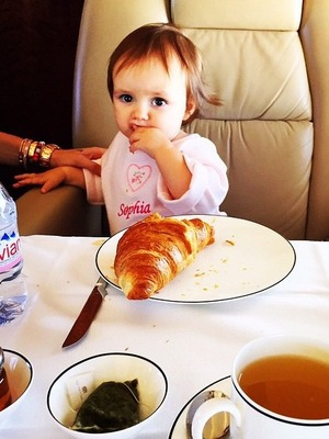 Tamara Ecclestone and daughter Sophia fly to Greece by private jet- 20 Aug 2015