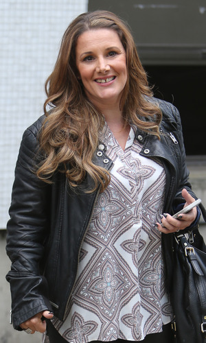 Sam Bailey outside ITV Studios today - 22 June 2015.