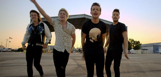 One Direction's Drag Me Down video Screengrab
