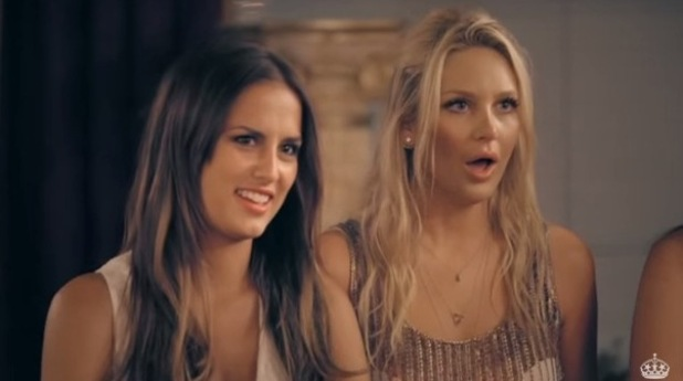 Made In Chelsea: LA. Stephanie Pratt and Lucy Watson react as Alex and Jamie say vows at the Little White Wedding Chapel in Las Vegas. Episode airs: Monday 24 August 2015.
