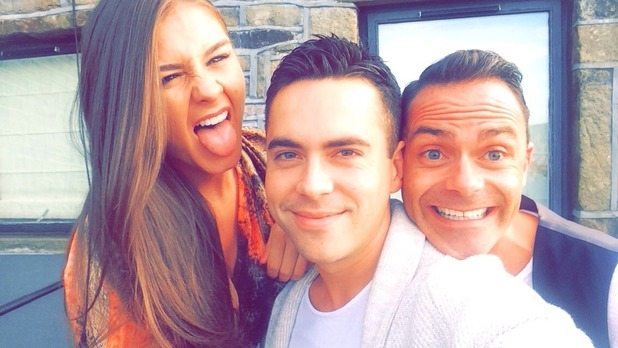 Brooke Vincent with co-star Bruno Langley - for use on Brooke's blog. 18 August 2015.
