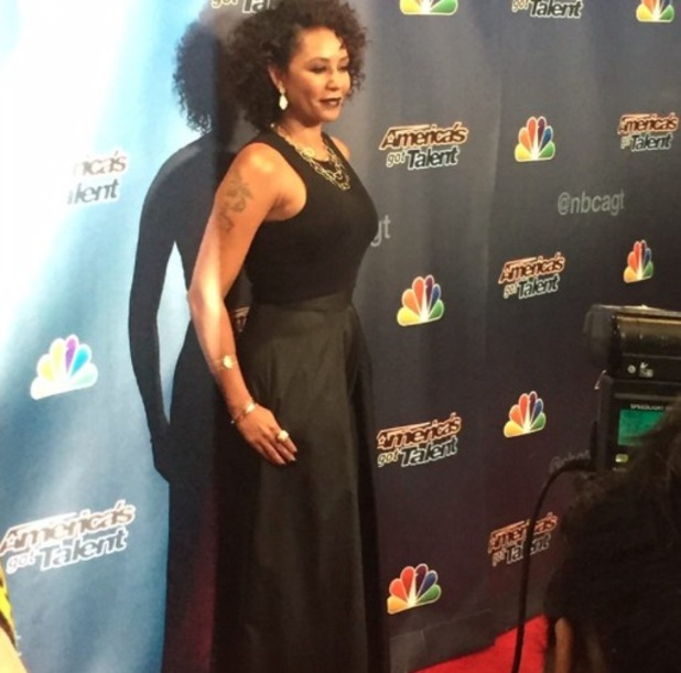 Mel B goes all Scary Spice '90s on us by embracing her curls on America's Got Talent, 19 August 2015