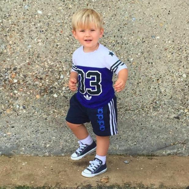 Dan Osborne shares cute photo of son Teddy, 21 August 2015