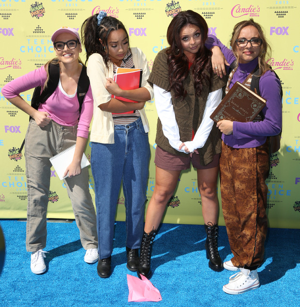 Leigh Anne Pinnock, Jesy Nelson, Perrie Edwards and Jade Thirlwall arrive at the Teen Choice Awards 2015 , 16th August 2015