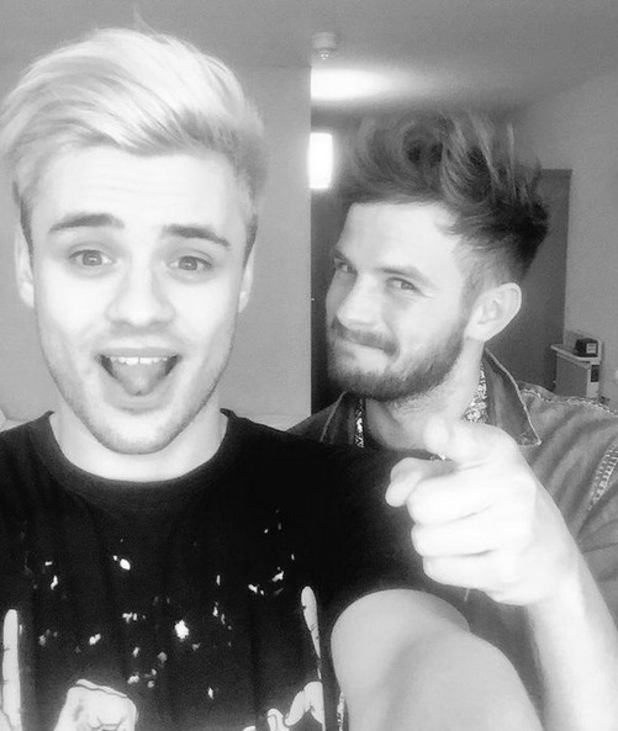 Former Stereo Kicks members Casey Johnson and Tom Mann before their first gig as a pair, Sunday 16th August 2015