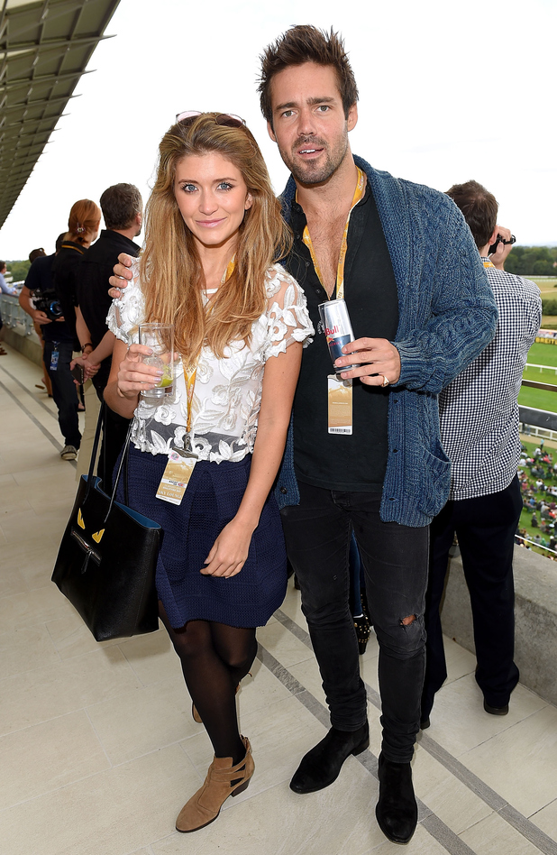 Lauren Frazer-Hutton and Spencer Matthews attend the Red Bull Air Race World Championships at Ascot Racecourse on August 15, 2015 in Ascot, England.