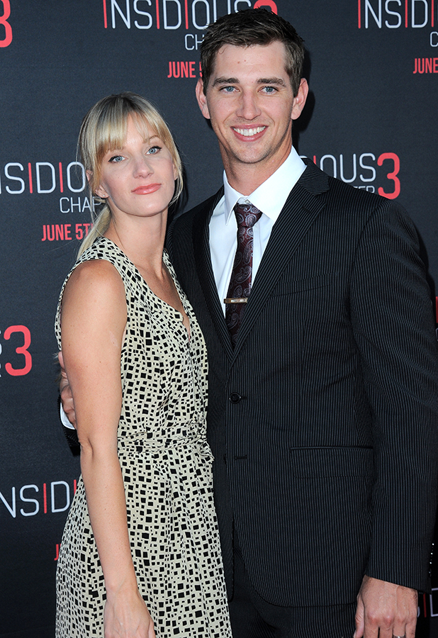 Heather Morris and husband Taylor Hubbell arrive for the Premiere Of Focus Features' 'Insidious: Chapter 3' held at TCL Chinese Theatre on June 4, 2015 in Hollywood, California. (Photo by Albert L. Ortega/Getty Images)