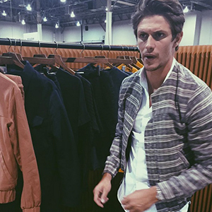 Jake Hall at Prevu London's booth at Liberty Fair in Vegas 20 August 2015