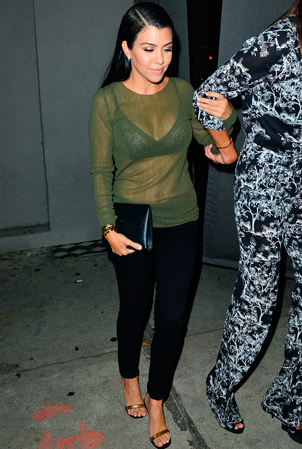 Kourtney Kardashian out and about, Los Angeles, America - 14 Aug 2015