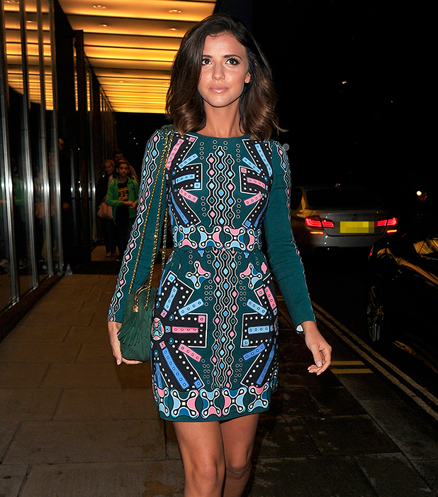 Lucy Mecklenburgh leaving the Bulgari Hotel in Knightsbridge 19 August 2015