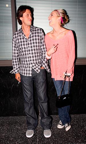 Jonathan Cheban and Stephanie Pratt leaving Katsuya restaurant in Hollywood Los Angeles, California - 09.08.10