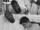 Kanye West, Kris Jenner fall asleep during party - picture!