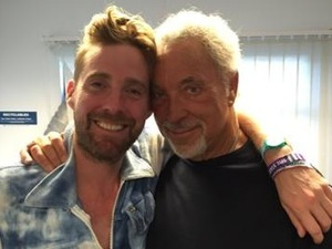 Sir Tom Jones reunites with Ricky Wilson following The Voice exit