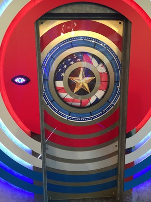 Reveal tour the Celebrity Big Brother house - Diary room door - 24 August 2015.