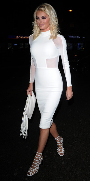 Chloe Sims at Nu Bar in Essex, 29 August 2015