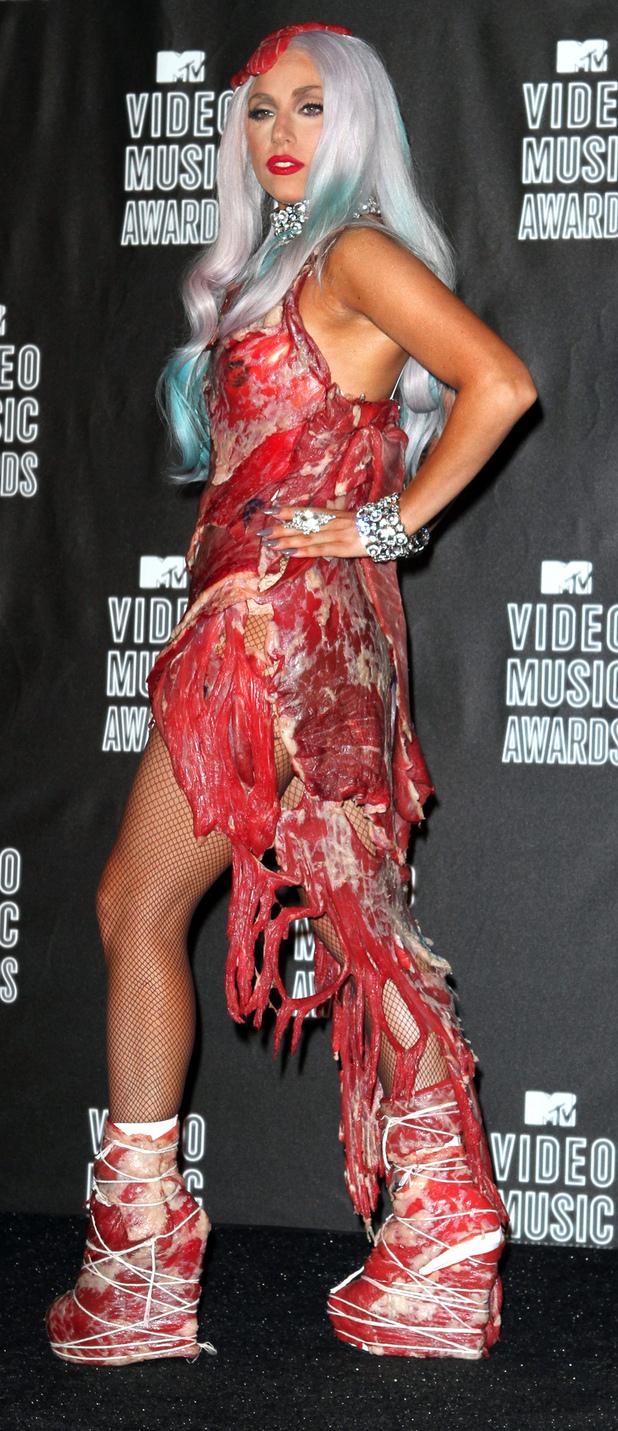 Lady Gaga at the 2012 MTV VMA's, 28th August 2015