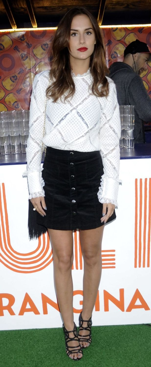 MIC's Lucy Watson at the Orangina launches Boulers Rooftop Petanque, London, Britain - 26 Aug 2015